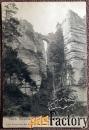 антикварная открытка саксонская швейцария. бастайский мост. германия