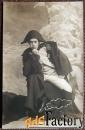 антикварная открытка актер в роли наполеона