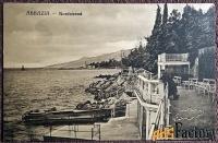 антикварная открытка аббация. нортстранд (хорватия)