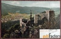 Антикварная открытка Баден-Баден. Старый замок (Германия)