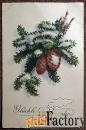 Антикварная открытка Счастливого Нового года (Германия)