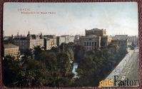 Антикварная открытка «Лейпциг.  Новый театр» (Германия)
