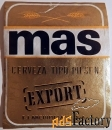 Этикетка. Пиво Mas (Чехословакия)