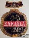 Этикетка. Пиво Karjala (Финляндия)