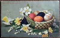 Антикварная открытка Христос Воскресе