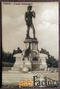 Антикварная открытка Флоренция. Статуя Давида. Площадь Микеланджело