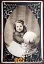 Антикварная открытка Счастливой Пасхи (Франция)