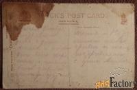 Антикварная открытка Стайка птиц