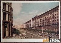 Открытка Москва. Улица Горького. 1956 год