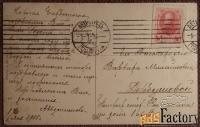 Антикварная открытка Медуница