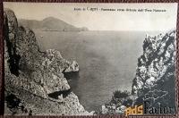 Антикварная открытка Остров Капри. Панорама на восток (Италия)