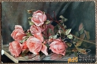 Антикварная открытка Ветка розы