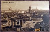 Антикварная открытка Милан. Панорама (Италия)