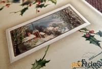 Антикварная открытка С Рождеством Христовым. Тиснение