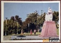 Открытка Туапсе. Памятник Неизвестному солдату. 1969 год