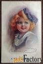 Антикварная открытка Солнечная девочка