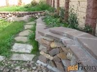 камень для подпорных стен и алп. горок