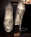Стильные Туфли на платформе: из натуральной кожи под питончика