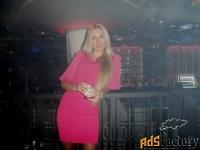 Бандажное стильное платье Herve Leger с шифоновыми рукавами