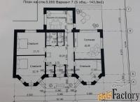 коттедж 161 м² на участке 9 сот.