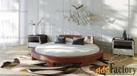 Круглая двуспальная кровать «Абсолют»