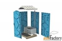 туалетная кабина мобильная пластиковая стандарт