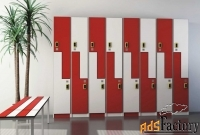 шкафы, шкафчики для раздевалки лдсп, металл, hpl- пластик