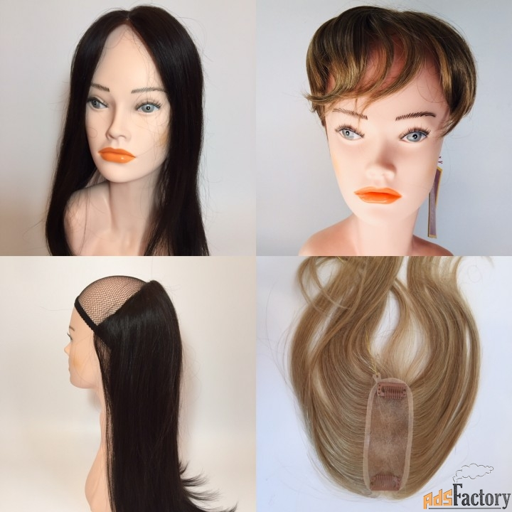 накладные челки и накладки из волос