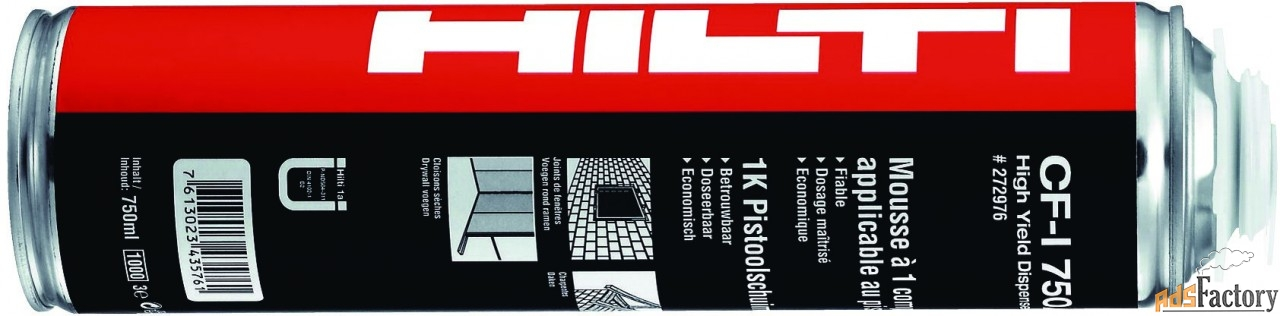 cf iso 765 hilti монтажная изолирующая пена арт. 432172