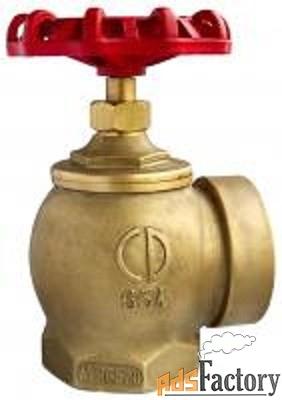 клапан пожарного крана динарм угловой латунный 90 гр. pn16 ду 65 мм