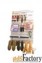 стенд elma101 для хранения сиз настенный вертикальный 800*1200 мм