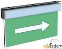 светодиодный оповещатель пожарный блик-рп двусторонний (ip41)