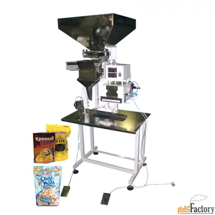 полуавтомат для фасовки и упаковки кофе в пакет дой пак