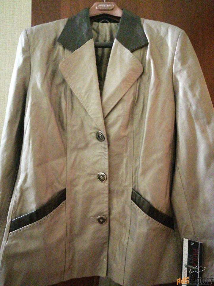 продаётся новая куртка-пиджак из натуральной кожи