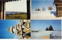 набор цветных открыток кижи