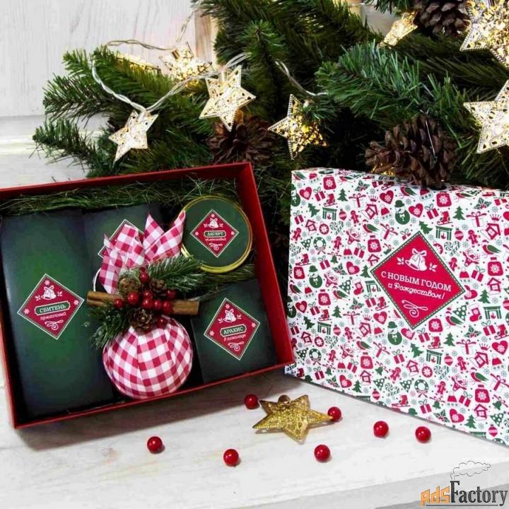 сладкие подарки с логотипом на новый год