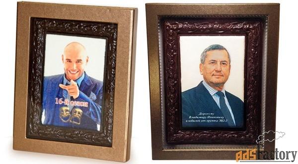 фигурный шоколад — рамки и портреты из шоколада