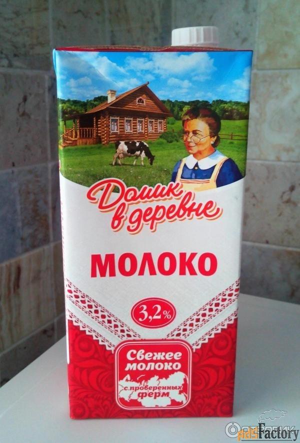 молоко домик в деревне