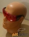 очки защитные  красно - оранжевые с раздвижной дужкой , тип люцерна