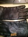 перчатки женские, из натуральной кожи, размер 6.5, цвет черный