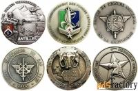 лот-2. французские полковые настольные медали